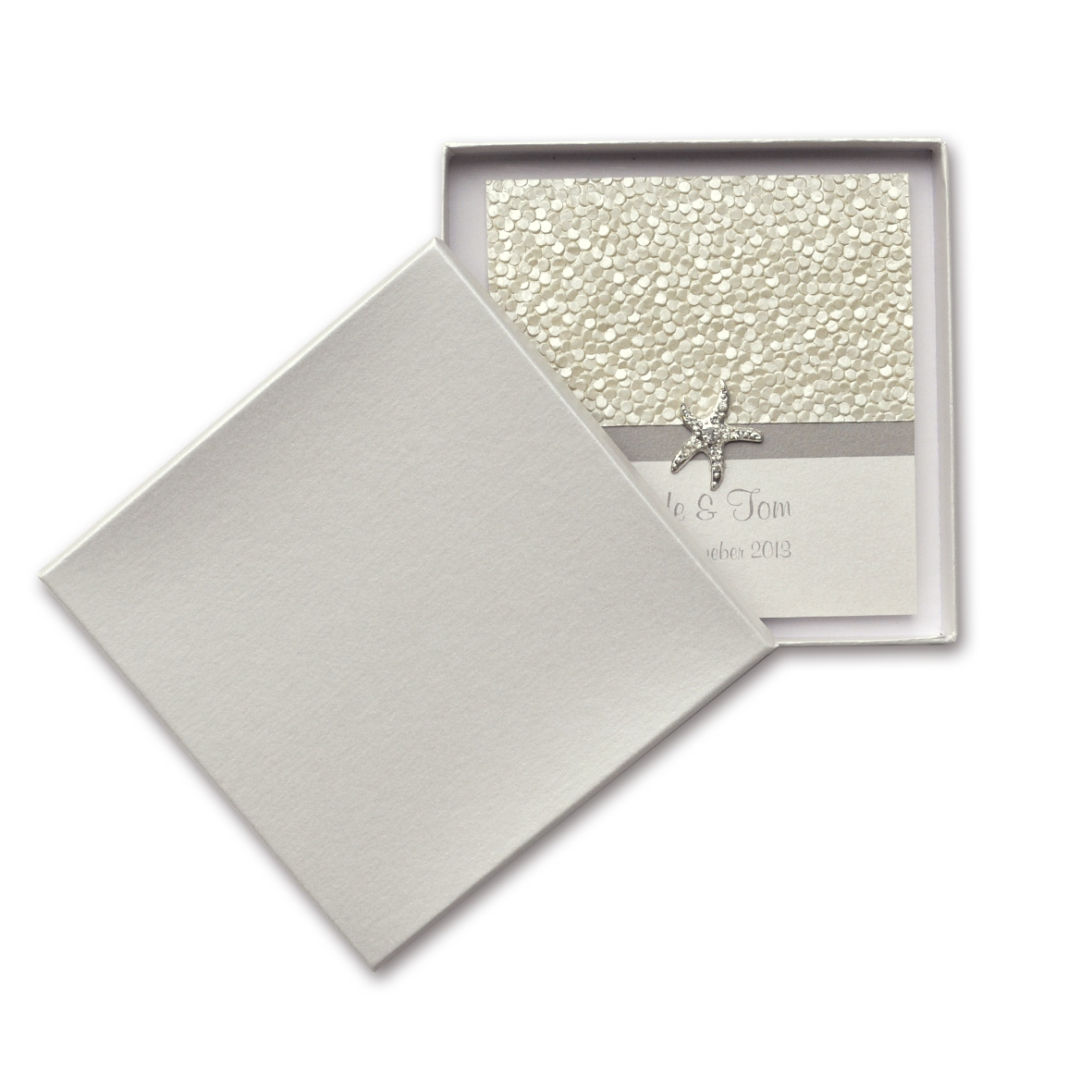 Rigid Invitation Box - Square - S.Dream Quartz (150x150mm)