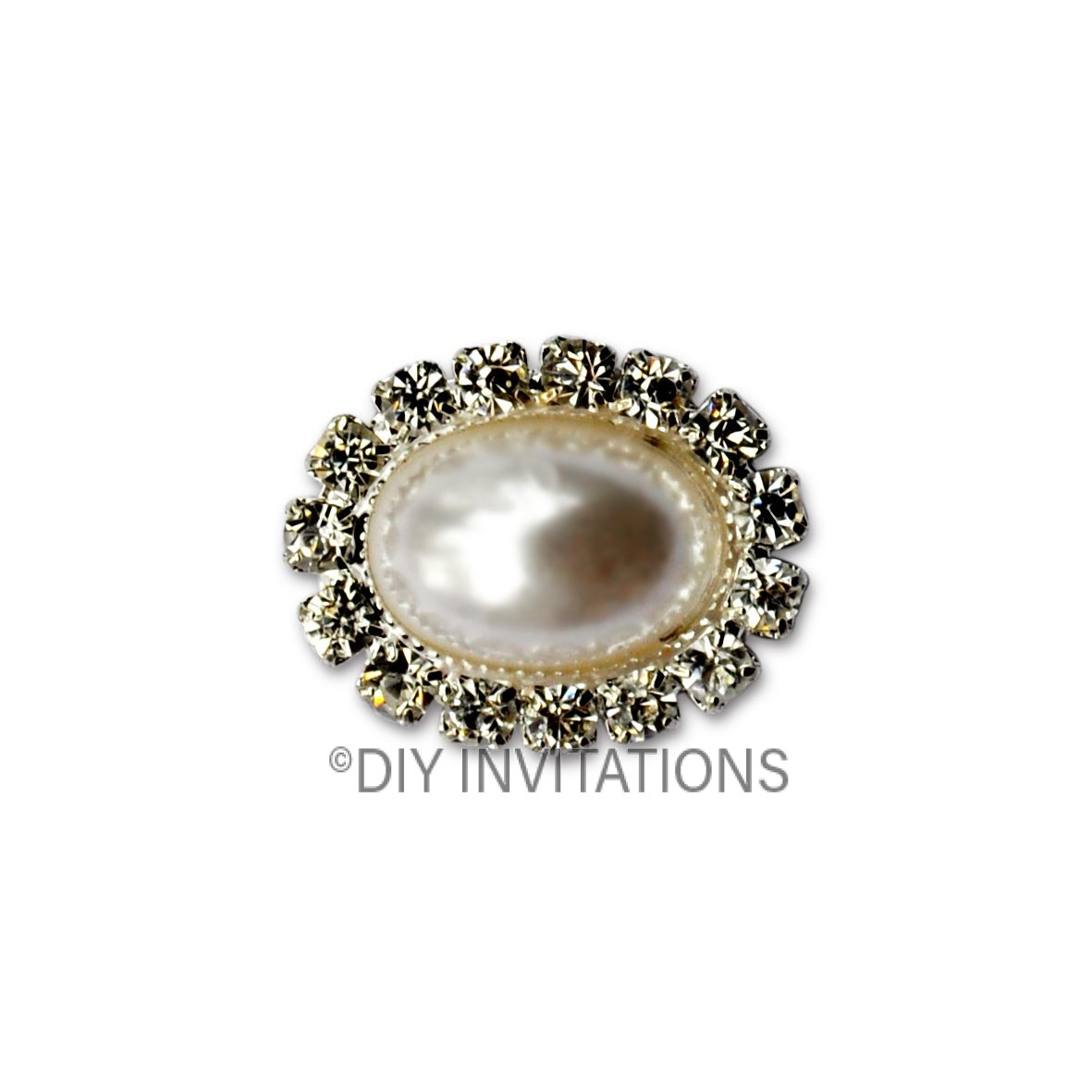 Self Adhesive Oval Pearl Cluster