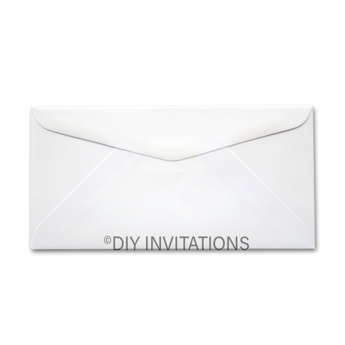 DL White Linen Envelope (110x220mm)