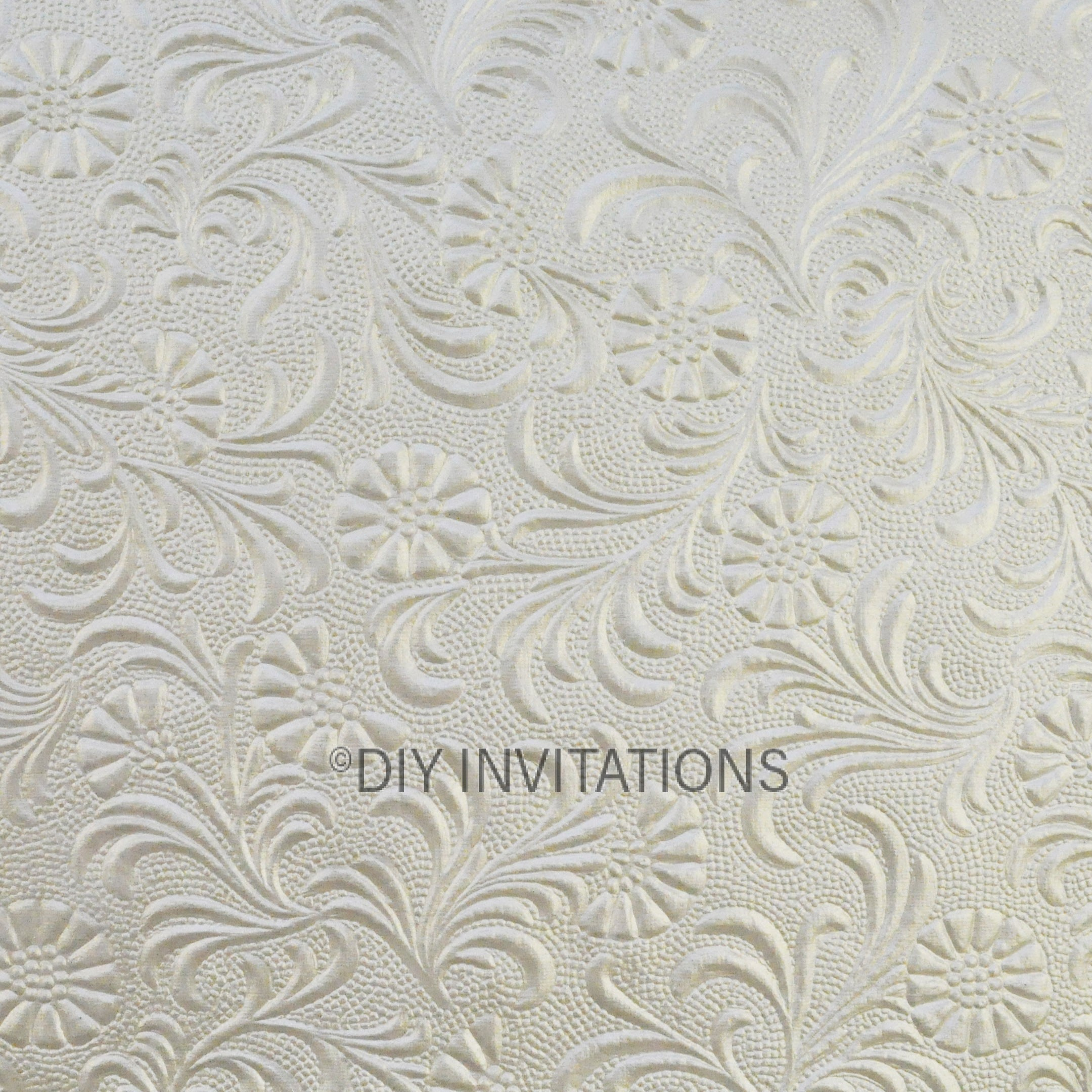 A4 Embossed Sunflower in Quartz 150gsm