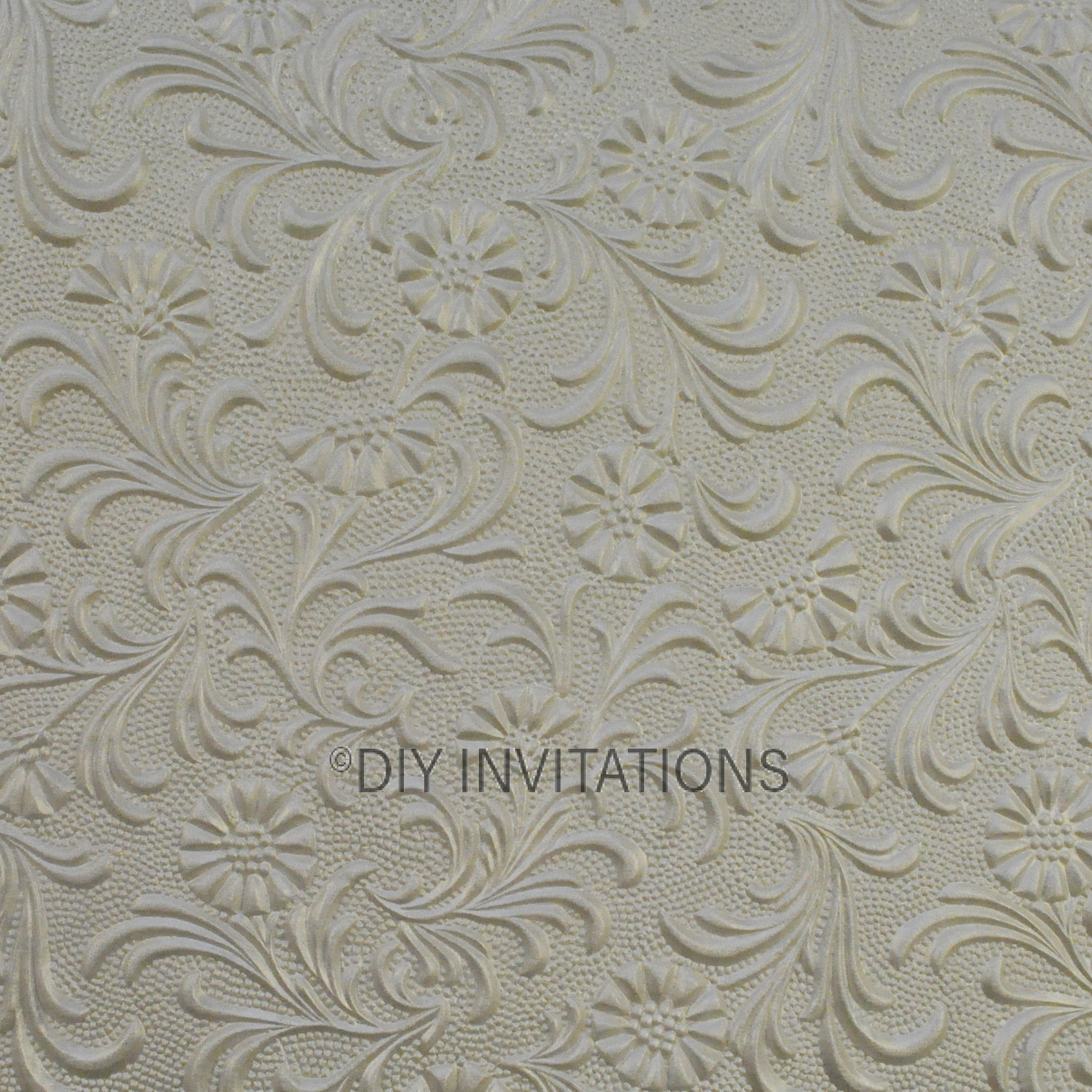 A4 Embossed Sunflower in Ivory 150gsm
