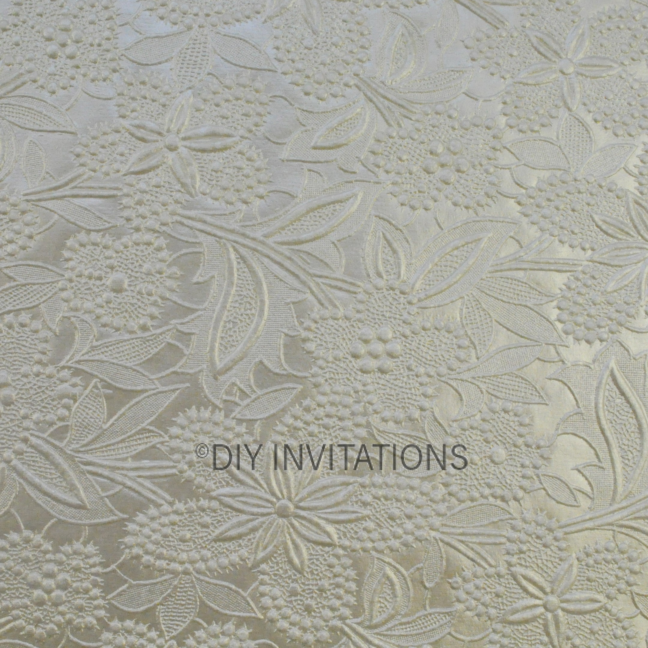 A4 Embossed Bloom in Ivory 150gsm
