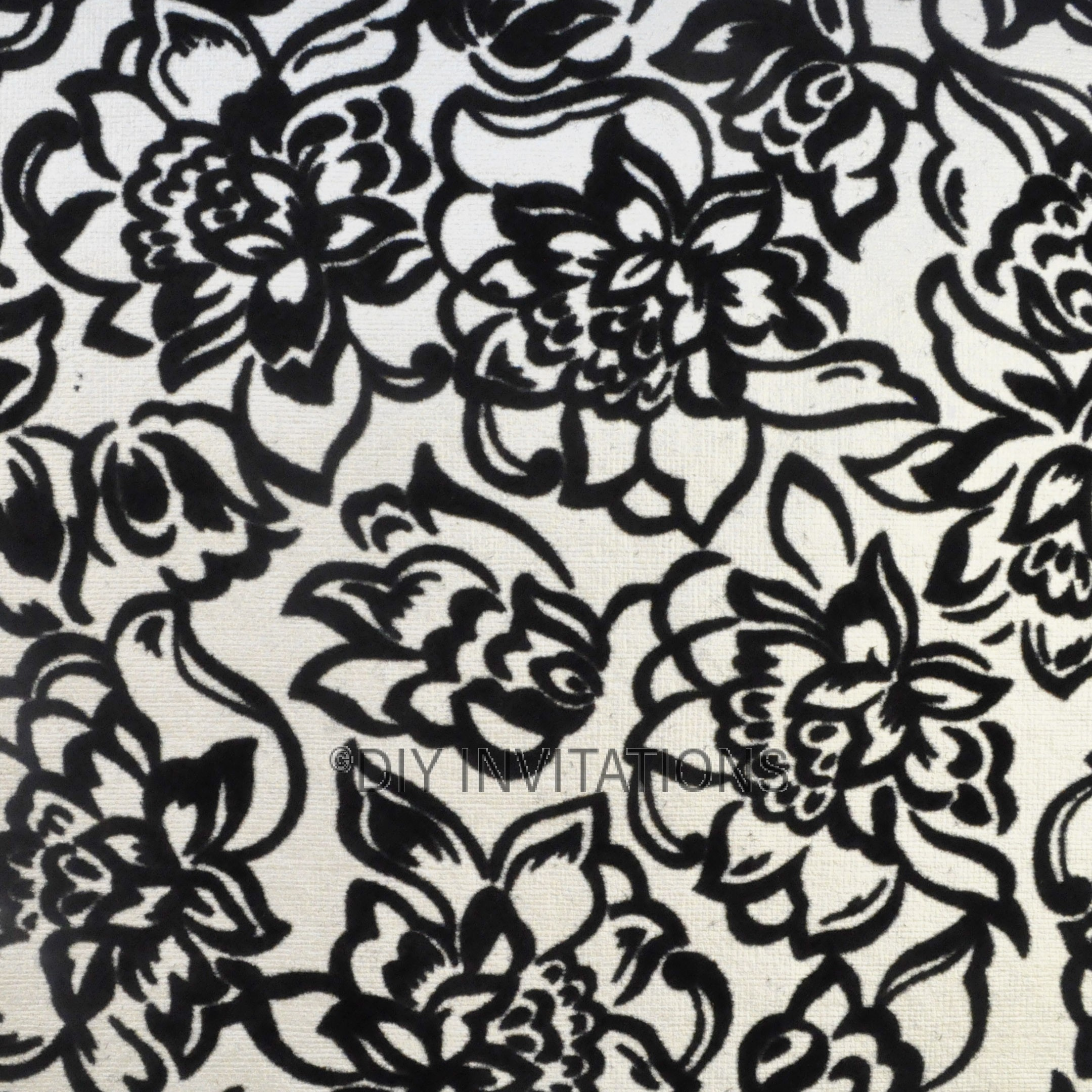 A4 Flocked Dahlia Black on Pearl 150gsm