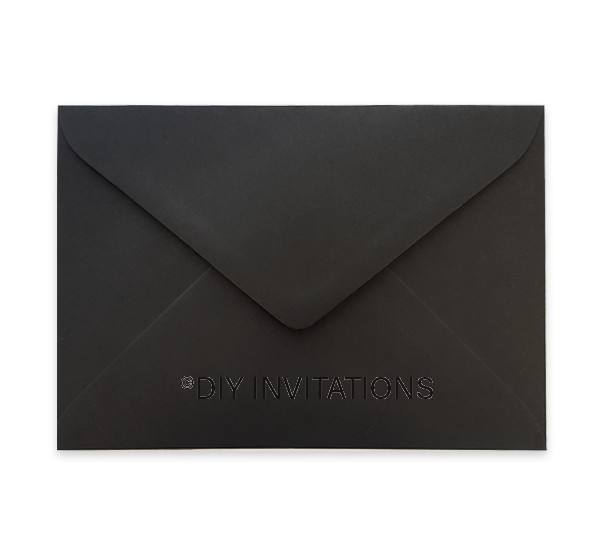 5x7 Matte Black Envelope (130x185mm)