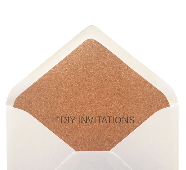 Rose Gold glitter 5x7 envelope liner