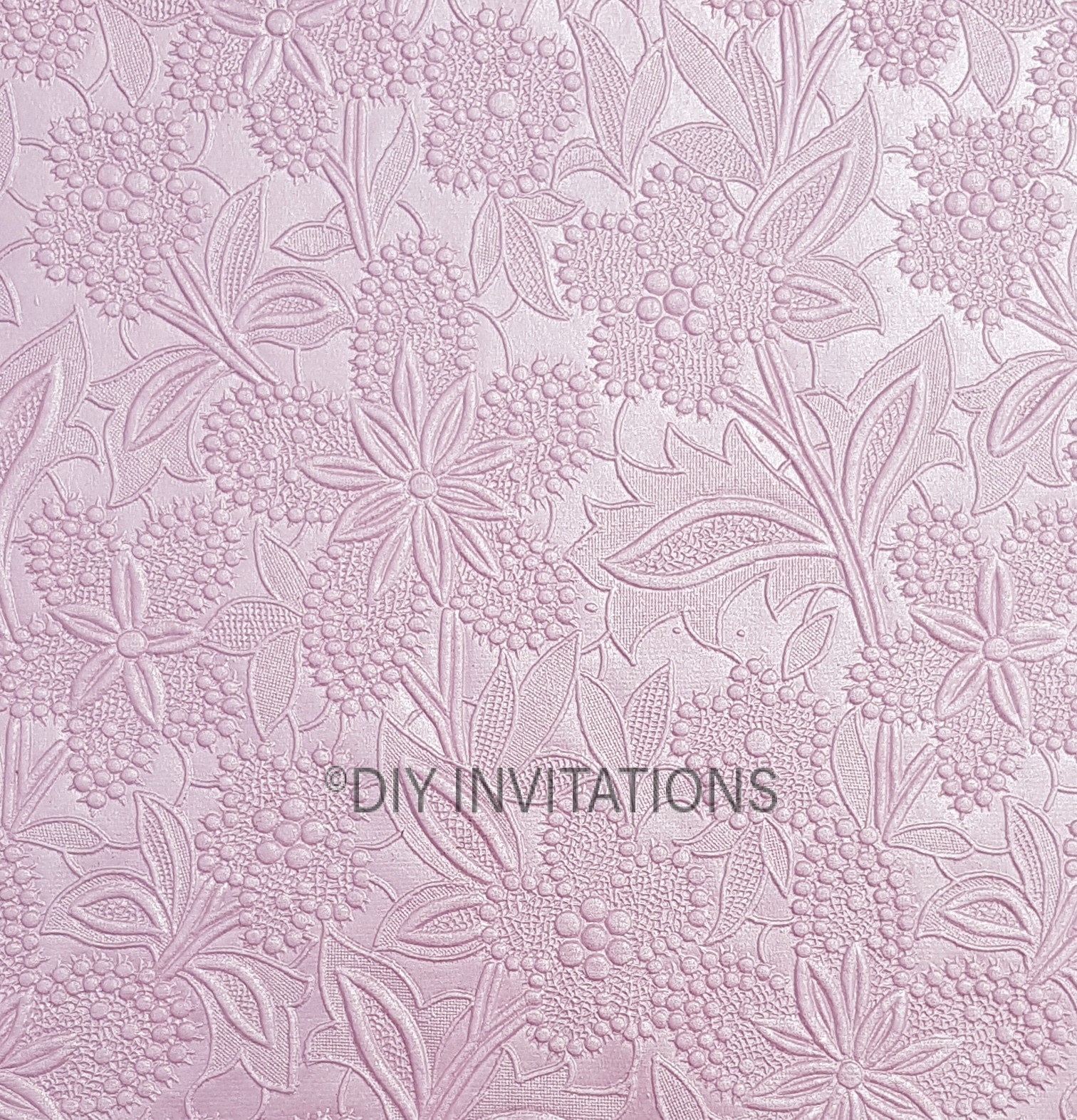 A4 Embossed Bloom in Baby Pink 150gsm