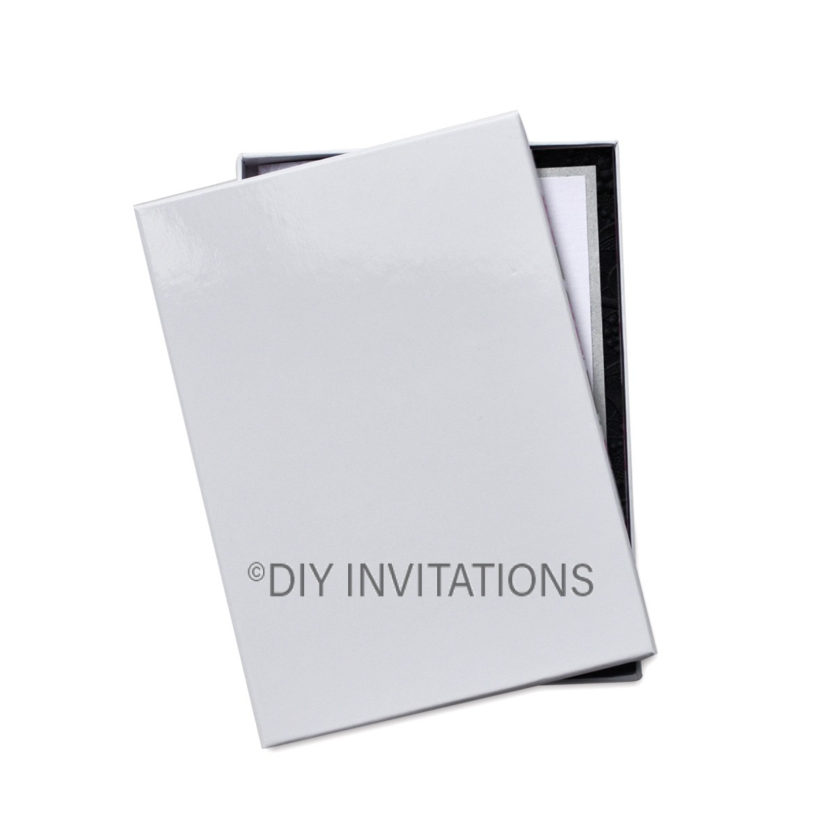 Rigid Invitation Box - 11B - Gloss White (93x149mm)