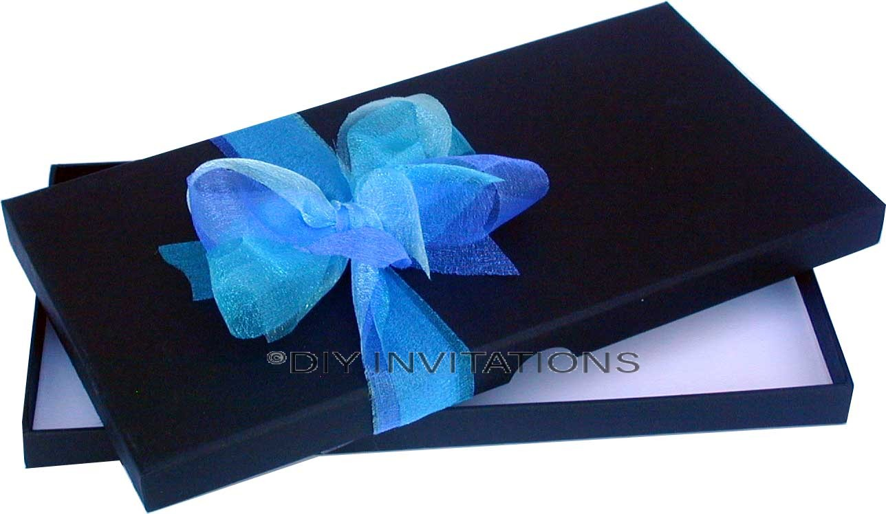 Rigid Invitation Box - DL - Black Matt (110x220mm)