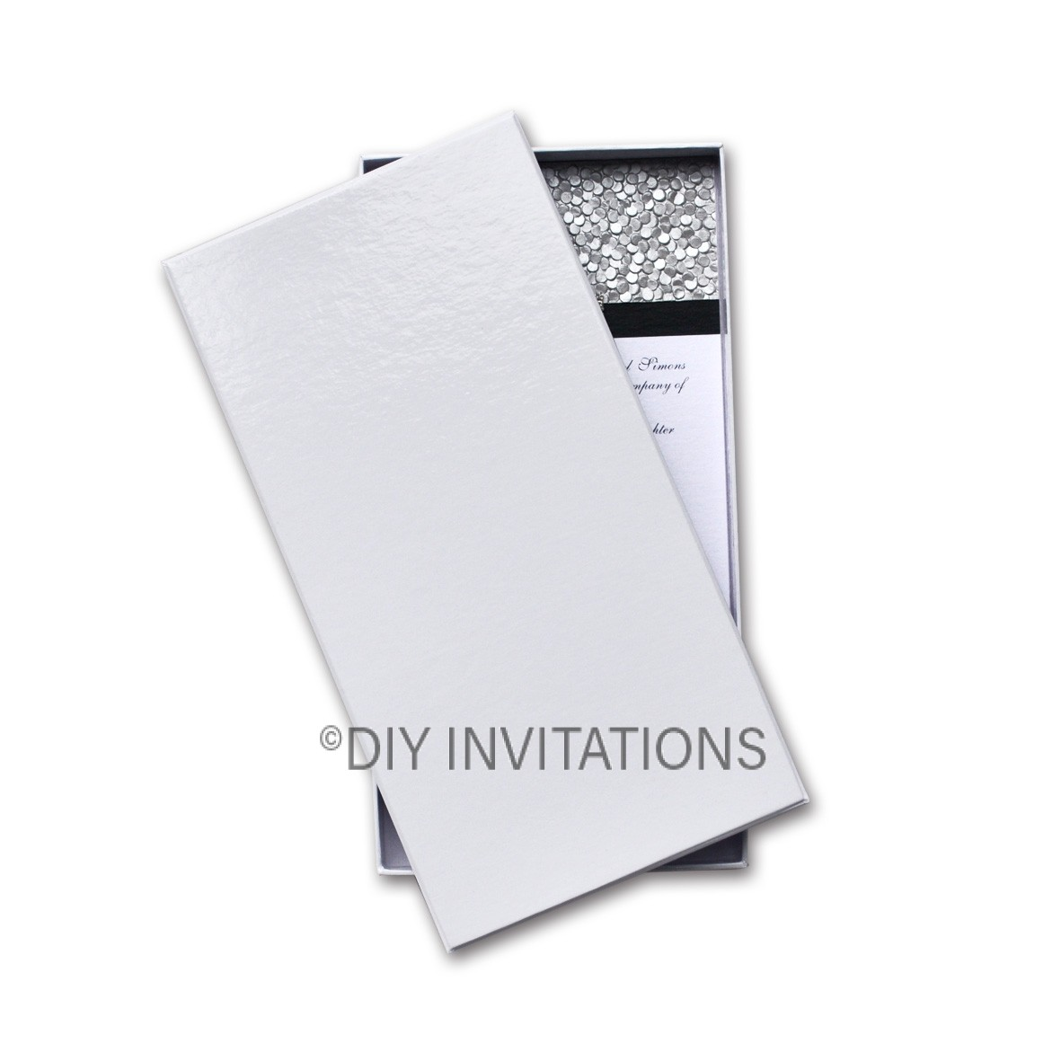 Rigid Invitation Box - DL - S.Dream Quartz (110x220mm)