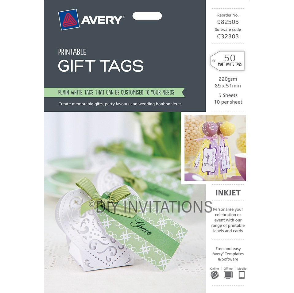 Avery Labels - Gift Tags - 89 x 51mm