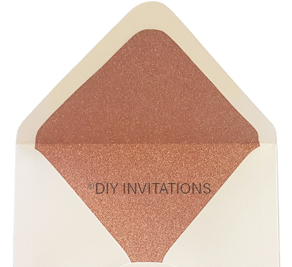 Rose Gold glitter envelope liner