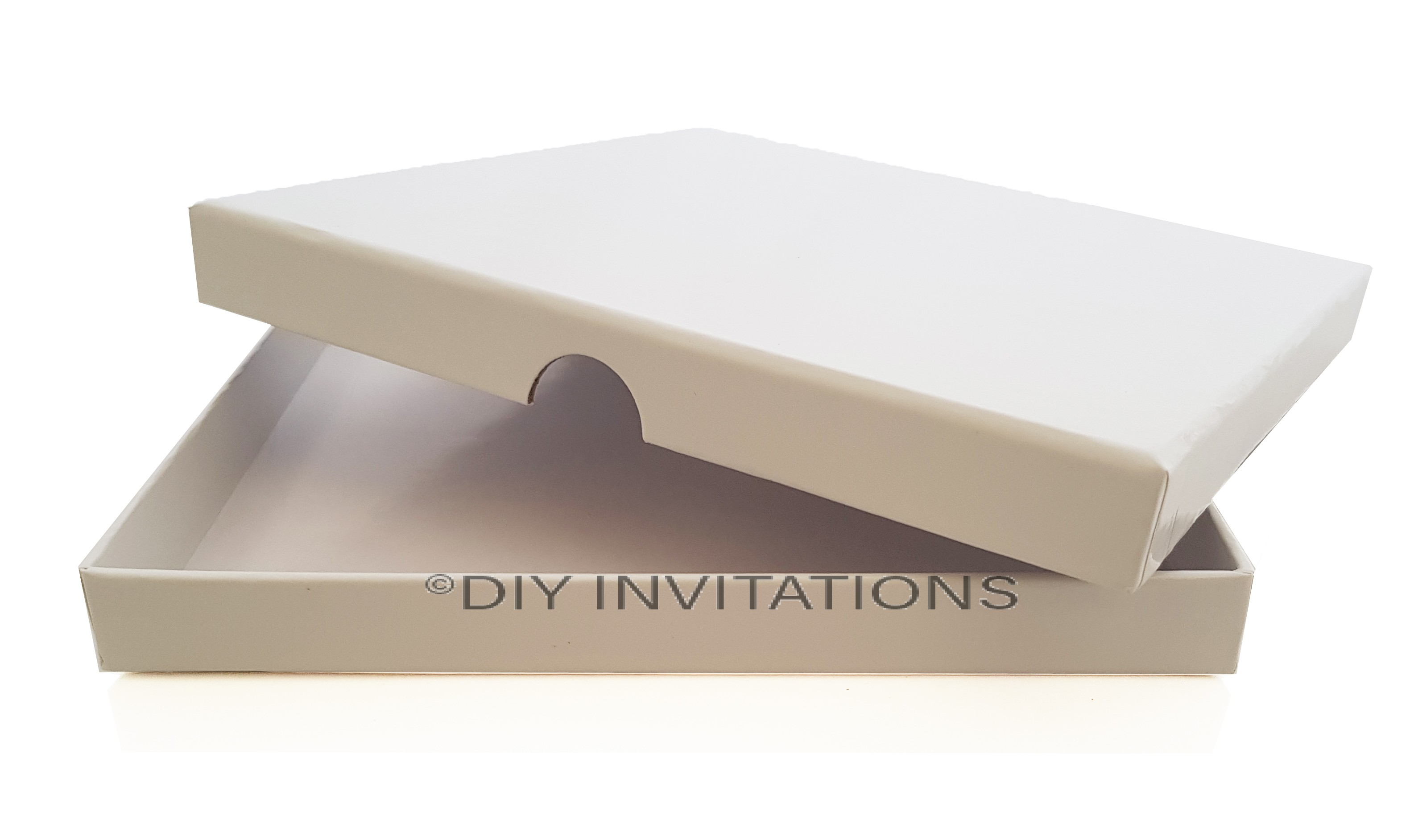 Rigid Invitation Box - Square - Gloss White (150x150mm)