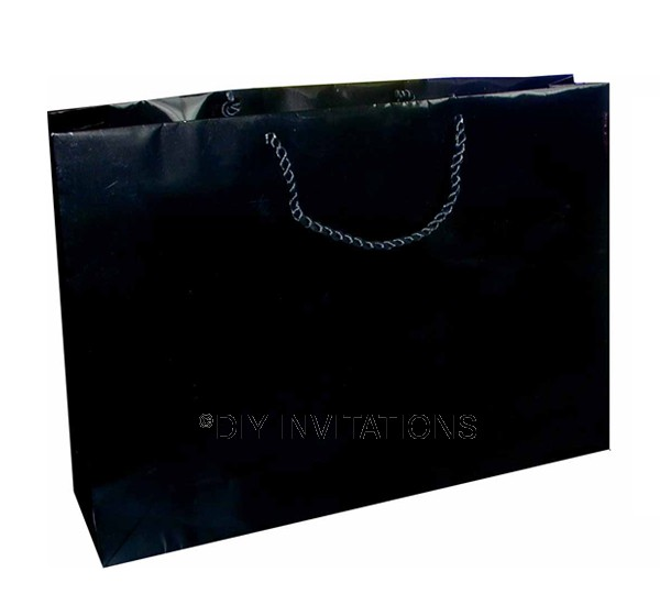 Horizontal Jumbo A3 Gift Bag - Black