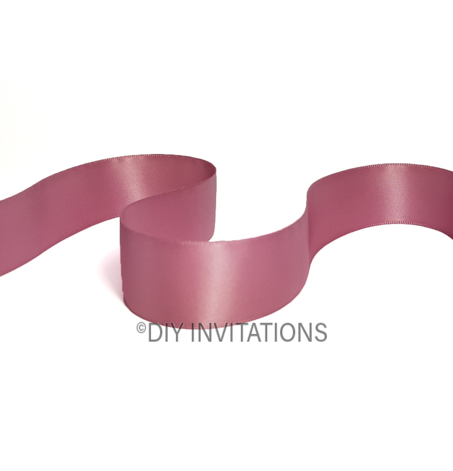 25mm satin ribbon Rose Mauve