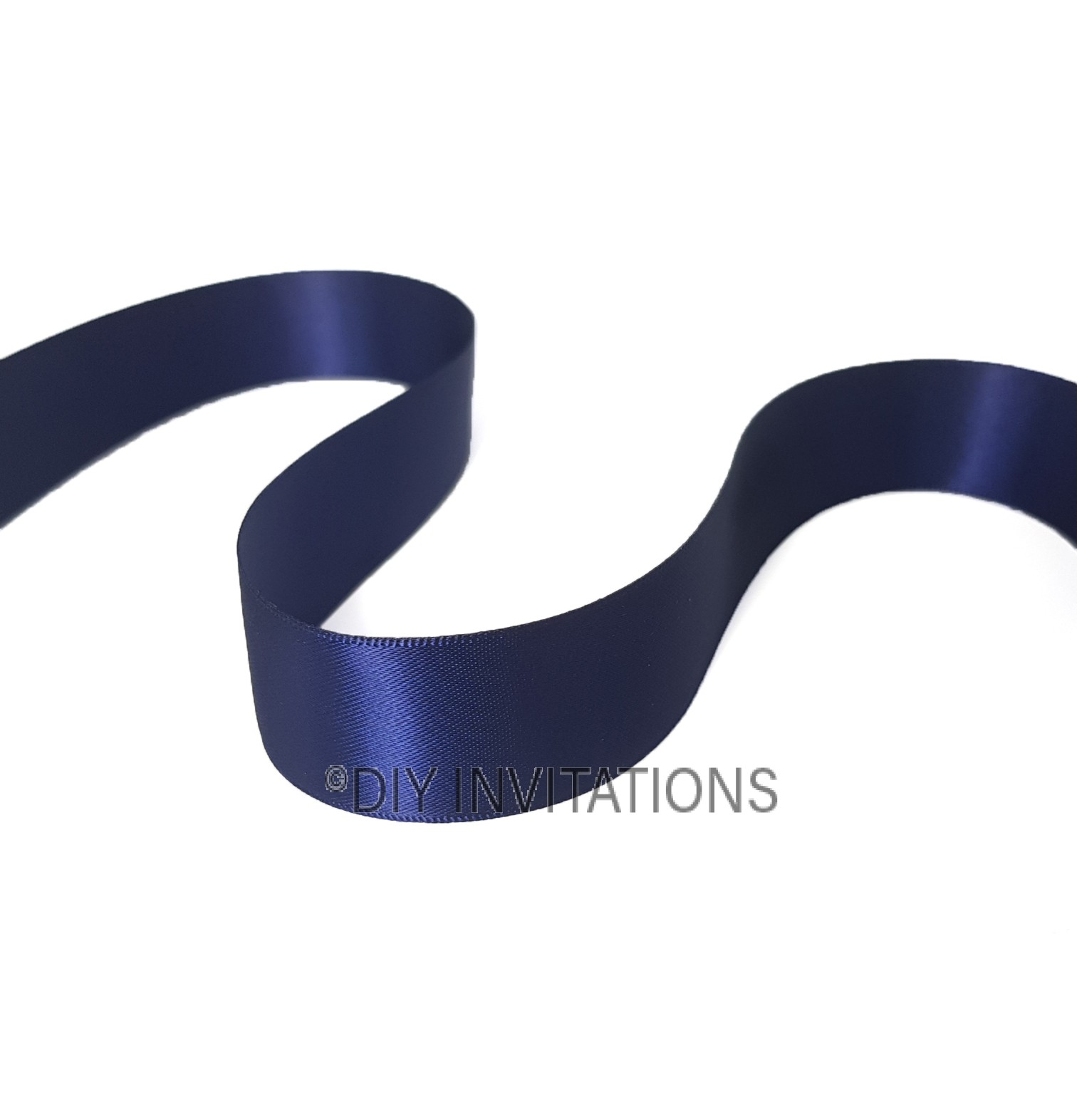 25mm Satin Ribbon Navy Blue