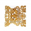 Gold Elegant Two Fold Swirl Glitter Laser Cut Invitation