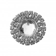 Self Adhesive Double Round Clear Cluster