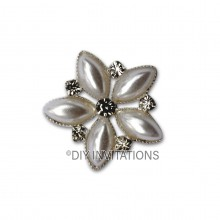 Self Adhesive White Flower Cluster
