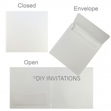 Hardcover Invite w/ Pocket + Envelope in Crystal