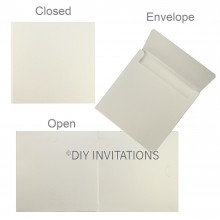 Hardcover Invite w/ Pocket + Envelope in Quartz