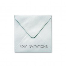 150mm Square Silver Shimmer Envelope