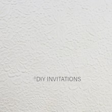 A4 Embossed Bouquet in White 150gsm