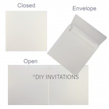 Crystal Hardcover Invitation Book + Envelope
