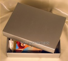 Gift Box Book - Silver  (2 piece lid + base)