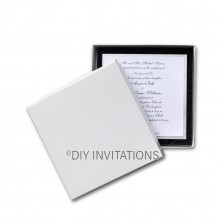 150 x 150 Square Invitation Box - white