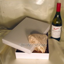 Gift Box Lingerie - White (2 piece lid + base)