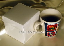 Gift Box Mug - White (2 piece lid + base)