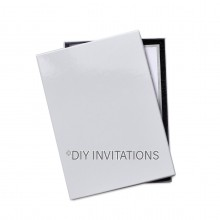 Rigid Invitation Box - 5x7 - Gloss White (130x185mm)