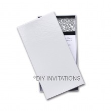 Rigid Invitation Box - DL - Gloss White (110x220mm)