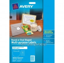 Avery Labels - Crystal Clear Round - 40mm