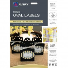 Avery Labels - Gloss Oval - 63.5 x 42.3mm