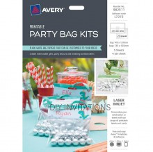 Avery Lables - Party Bag Kits - Top 48 x 137mm Bag 135 x 165mm