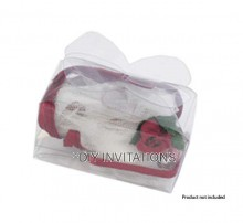 Clear Small Bow Bomboniere Box
