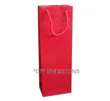 Wine Bottle Bag - Red