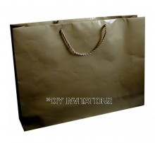 Horizontal Jumbo A3 Gift Bag - Gold