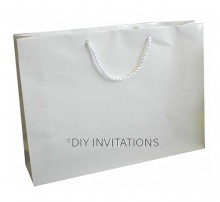 Horizontal Jumbo Gift Bag (A3) - White