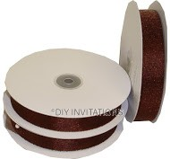 Organza Ribbon Chocolate Shimmer
