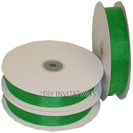 Organza Ribbon Emerald Green Shimmer