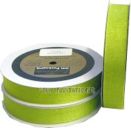 Organza Ribbon Lime Shimmer