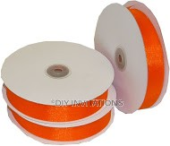 Organza Ribbon Orange Shimmer