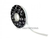 Double Sided Satin Antique White