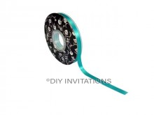 Double Sided Satin Ribbon Turquoise