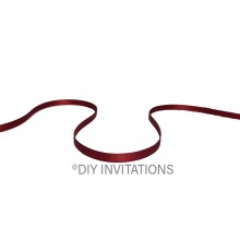 5mm satin ribbon red wine